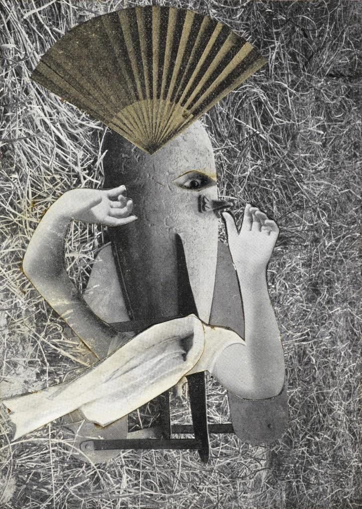 Max Ernst, Chinesische Nachtigall, 1920 Collage und Tusche auf Papier, 12,5 x 9 cm Musée de Grenoble © 2016 ProLitteris, Zürich