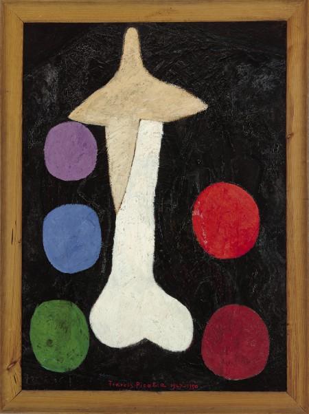 Picabia, Egoisme 1947/48- um 1950 Öl auf Holz im originalen Holzrahmen, 186 x 126,1 x 7 cm, mit Rahmen Museum Boijmans Van Beuningen, Rotterdam © 2016 ProLitteris, Zürich