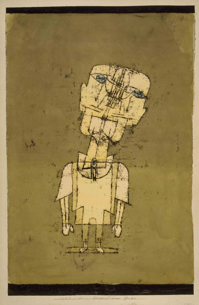 PAUL KLEE, GESPENST EINES GENIES, 1922 Ölpause und Aquarell auf Papier, auf Karton, 50 x 35 cm National Gallery of Modern Art, Edinburgh © National Galleries of Scotland