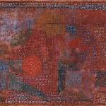 PAUL KLEE, VERWITTERTES MOSAIK, 1933  Aquarell und Gouache auf japanischem Ingrespapier, auf Karton, 35,6 x 46,7 cm Norton Simon Museum, Pasadena, The Blue Four Galka Scheyer Collection © Norton Simon Museum, Pasadena