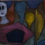 PAUL KLEE, OHNE TITEL (TODESENGEL), UM 1940  Öl auf Leinwand, rückseitig Kleistergrundierung, auf Keilrahmen, 51 x 66,4 cm Privatbesitz, Schweiz, Depositum im Zentrum Paul Klee, Bern © Zentrum Paul Klee, Bern, Bildarchiv