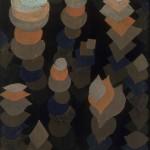 PAUL KLEE, WACHSTUM DER NACHTPFLANZEN, 1922  Öl auf Pappe; gefirnisst, 47,2 x 34,1 cm 1991 erworben als Ankauf aus dem Nachlass Etta und Otto Stangl – Miterbengemeinschaft, München © Bayerische Staatsgemäldesammlungen, Foto: Sibylle Forster