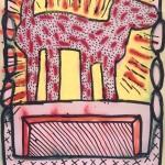 Keith Haring, Ohne Titel, 1980 Sprühemail, Tinte und Acryl auf Plakatkarton © The Keith Haring Foundation