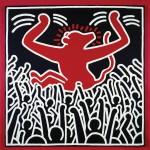 Haring, Ohne Titel, 1985 Acryl auf Leinwand Privatsammlung © The Keith Haring Foundation