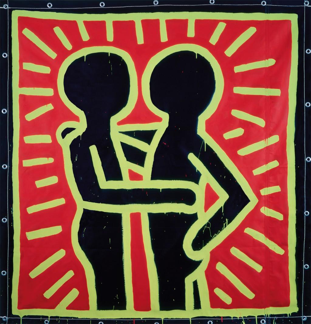 Keith Haring Ohne Titel, 1982 Vinylfarbe auf Vinylplane Privatsammlung © The Keith Haring Foundation