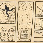 Keith Haring, Ohne Titel, 1980Tinte auf Plakatkarton© The Keith Haring Foundation