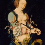 Joos van Cleve  Der Selbstmord der Lucretia, 1515–1518 Öl auf Eichenholz  47,7 x 35,3 cm  Kunsthaus Zürich, Ruzicka-Stiftung 1949