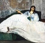 Édouard Manet Jeanne Duval, la Maîtresse de Baudelaire (La Dame à l'éventail), 1862 Öl auf Leinwand, 89,5 x 113 cm Museum of Fine Arts, Budapest